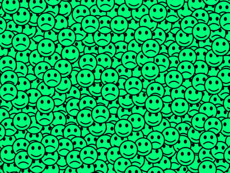 Society design. High definition pattern. Throng containing funny emotions.