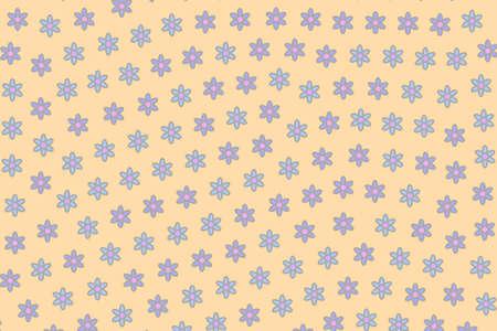 Geometric lea composed of multiple tripleurospermum. Love design.