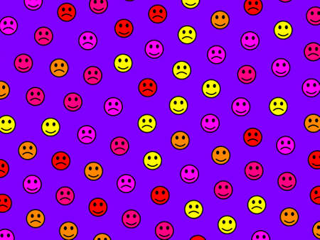 Entertainment illustration. Abstract pattern. Throng containing random shapes.