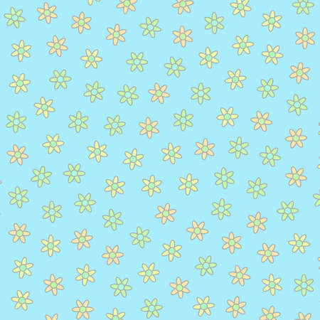 Abstract pattern containing random chrysanthemum. Dearness theme.