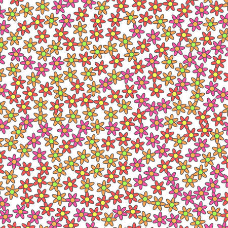 Romantic pattern based on random osteospermum. Banner backdrop. 版權商用圖片
