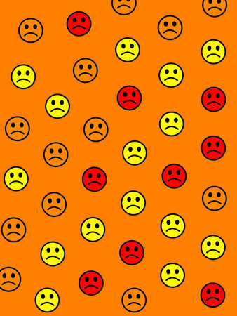 Chat illustration. High definition texture. Throng containing amusing smileys.