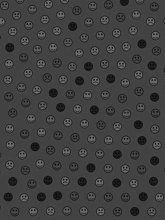 Interplay theme. Geometric texture. Crowd based on random faces.