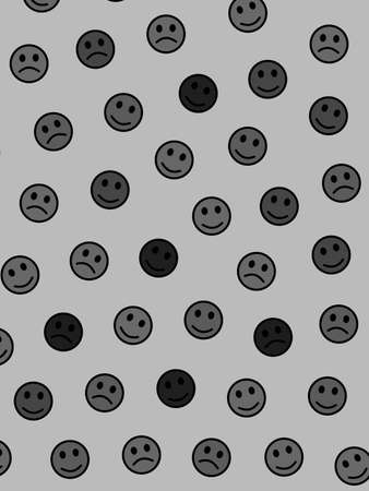 Network design. Abstract template. Institute with random smileys. Banco de Imagens