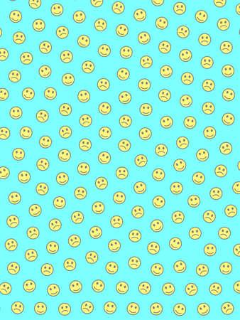 Communication illustration. Flat template. Association comprising comic feelings.