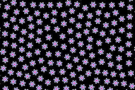 Geometric grass based on multiple osteospermum. Fondness theme.