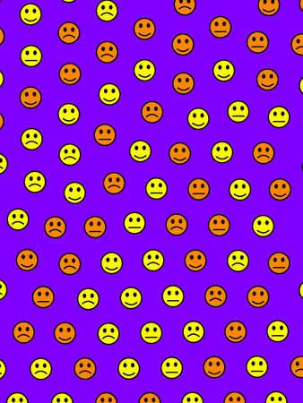 Net concept. Holiday pattern. Group including random smileys. Banque d'images