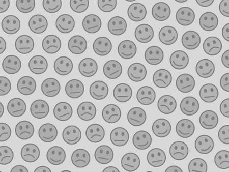 Internet concept. Creative pattern. Folk composed of funny faces.