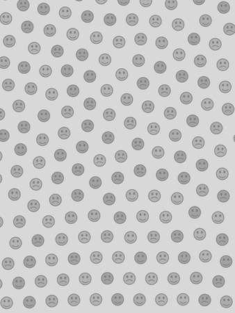 Teamwork illustration. High definition template. Institute composed of smart smileys.