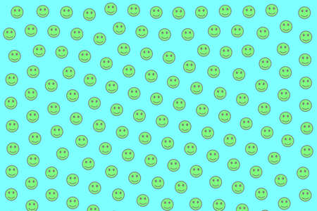 Net illustration. Geometric texture. Crowd containing amusing emotions. Stock Photo