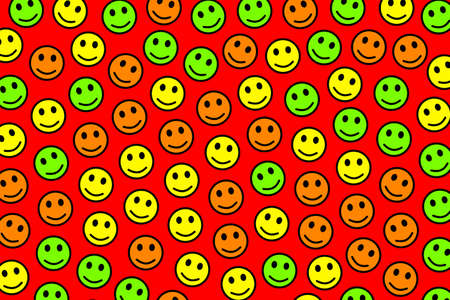 People concept. Flat template. Crowd based on multiple smileys. 写真素材