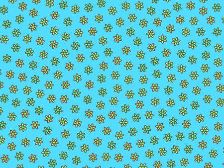 Geometric texture comprising random gerbera. Delicacy design. Фото со стока