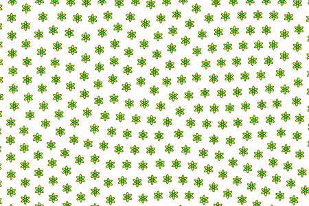 Abstract mosaic comprising blossoming gerbera. Dearness illustration.