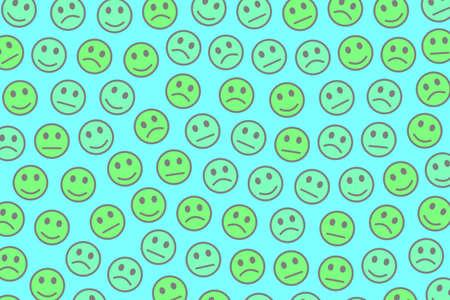 People design. Simple template. Crowd composed of random moods. Фото со стока - 121930878