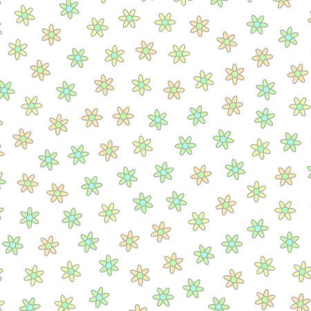 Irregular field and blossoming tripleurospermum. Banner concept.