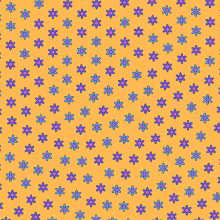 Abstract glade composed of random chrysanthemum. Banner theme.
