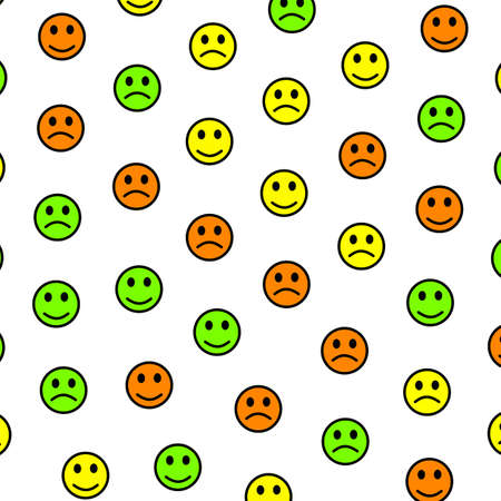 System illustration. Flat texture. Gang including random emotions. 写真素材