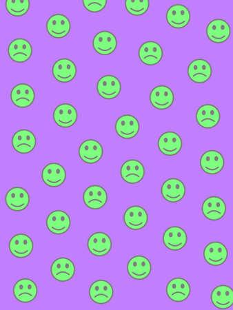 Party illustration. Irregular pattern. Institution including funny smileys. 写真素材
