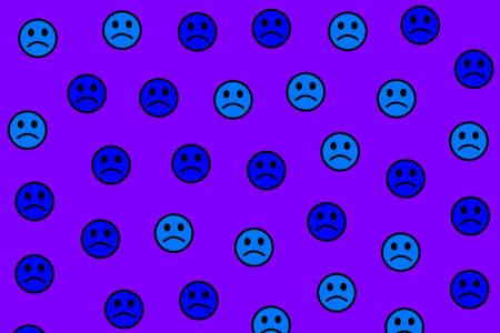 Web illustration. Simple pattern. Throng including random feelings.