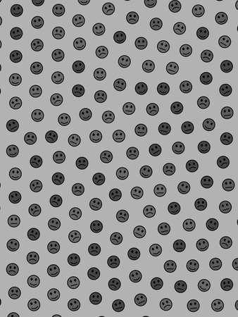 Temat współpracy. Wzór geometryczny. Grupa składająca się z inteligentnych twarzy. Zdjęcie Seryjne