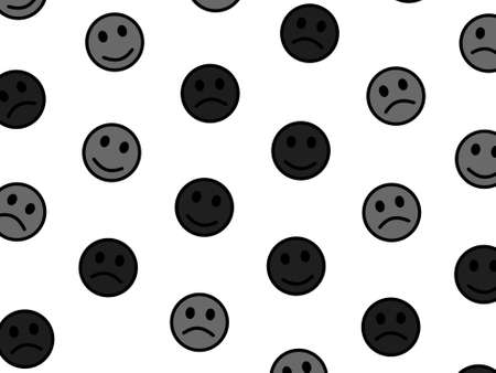Network illustration. Chaotic texture. Group including comic smileys.