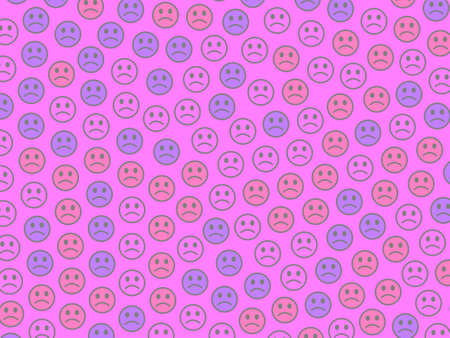 Chat theme. Creative pattern. Gathering based on funny shapes. 版權商用圖片 - 122645433