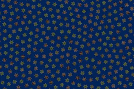 Romantic grassplot with many chrysanthemum. Feeling theme. 스톡 콘텐츠