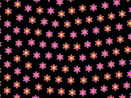 Geometric mosaic composed of random osteospermum. Liking illustration. 스톡 콘텐츠