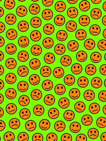 People backdrop. Chaotic template. Throng including multiple smileys.