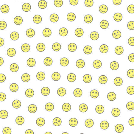 System backdrop. Holiday pattern. Institution containing comic faces. Banco de Imagens