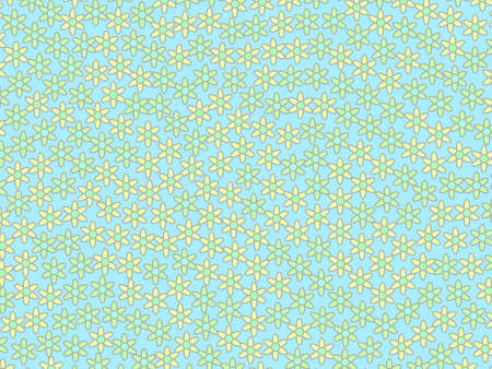 Summer pattern and random matricaria. Modern  design. Reklamní fotografie
