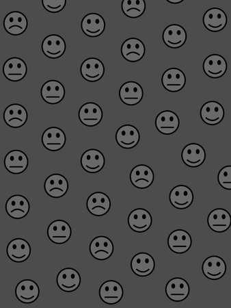 Chat illustration. High definition pattern. Community based on multiple moods. Banco de Imagens