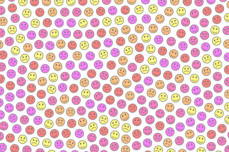Entertainment concept. Creative texture. Group with funny smileys. Standard-Bild