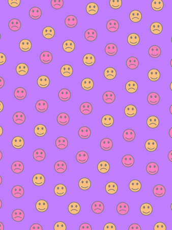 Internet theme. Abstract background. Assembly including funny smileys.