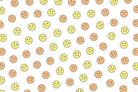 Interaction backdrop. Chaotic pattern. Crowd containing amusing smileys.