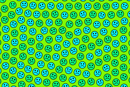 Entertainment theme. Chaotic texture. Assembly composed of smart smileys. Imagens