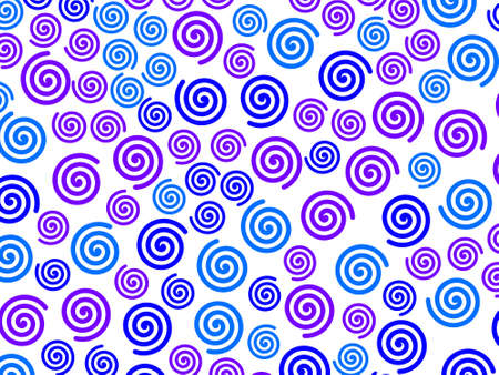 Curl pattern containing many shapes for high definition illustration.