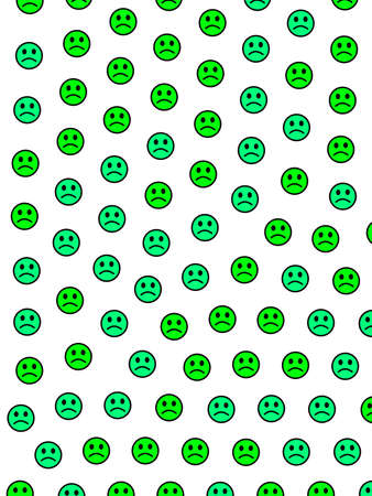 Cooperation concept. High definition texture. Crowd comprising amusing smileys.