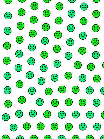 Cooperation concept. High definition texture. Crowd comprising amusing smileys. Stockfoto - 124391551