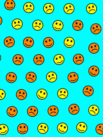 People concept. Holiday texture. Throng comprising funny smileys.