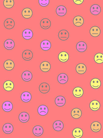 People illustration. Flat backdrounds. Institute based on smart emotions. Imagens