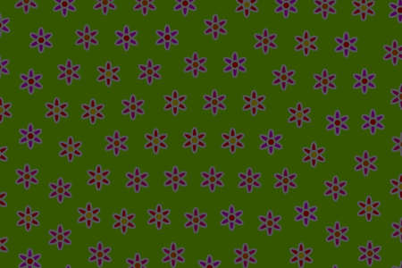 Party pattern and blooming osteospermum. Love theme.
