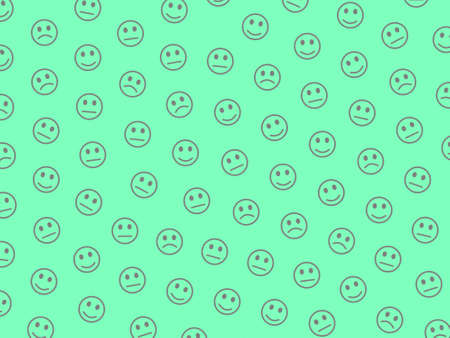 Net concept. Simple pattern. Group composed of random smileys.