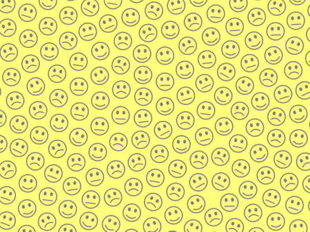 Communication design. Chaotic template. Fellowship comprising funny smileys.