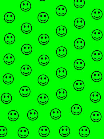 Network illustration. Abstract pattern. Throng containing amusing smileys. 写真素材