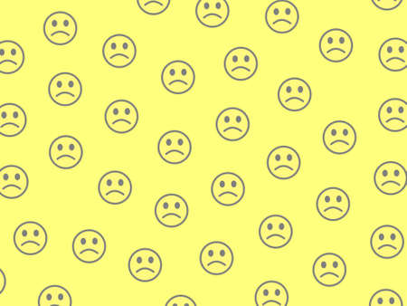 Cooperation theme. Abstract texture. Assembly composed of amusing smileys. 写真素材