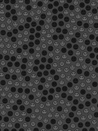 System decoration. Geometric pattern. Crowd based on many moods. Banco de Imagens