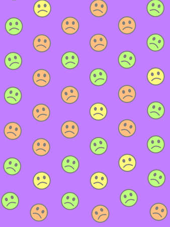 Entertainment concept. Simple pattern. Association based on multiple smileys.