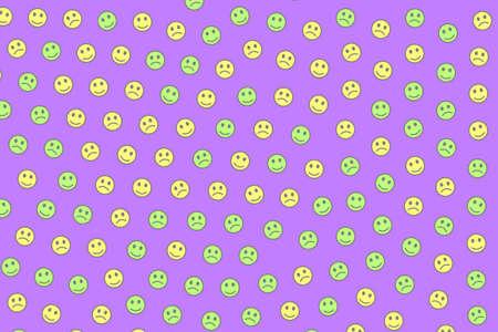 Society decoration. Geometric pattern. Group including smart smileys.