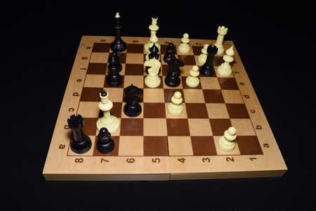 Chessboard and the chessmen for skill theme